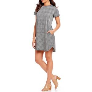 NWT Gibson LaTimer Plaid Contrast Shift Dress S
